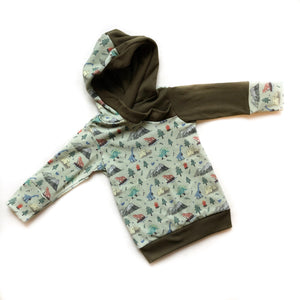 Camping Dino Organic Cotton Hoodie - Baby