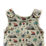 Camping Dinos Organic Cotton On-the-Grow Romper