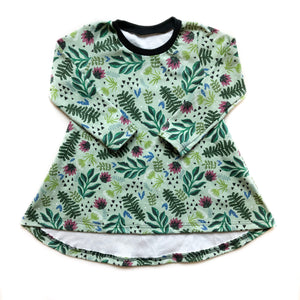Children's Festive Floral Long Sleeve Tunic Dress