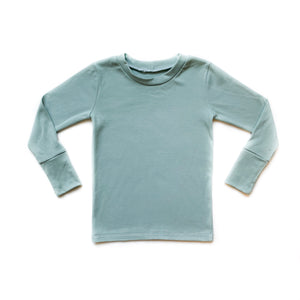 Basic Teal Long Sleeve Shirt - Kids