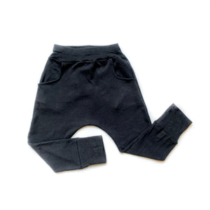 Baby Basic Black Pocket Leggings