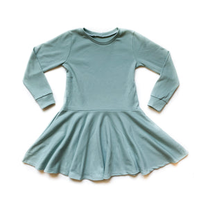 Kids Basic Teal Twirl Dress