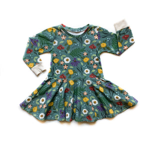 Kids Blue Spring Twirl Dress