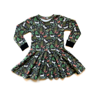 Baby PNW Moth Twirl Dress