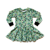 Toddler Festive Floral Twirl Dress
