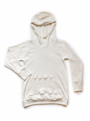 Women's Basic Cream Organic Cotton Hoodie
