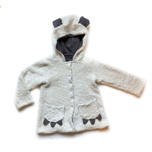 Kids Basic Grey Sherpa Coat