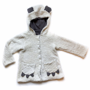 Baby Basic Grey Sherpa Coat