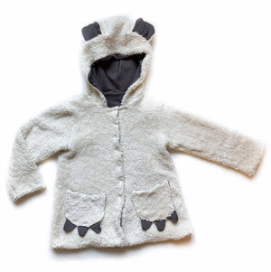 Basic Grey Sherpa Coat - Toddler