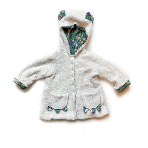 Kids Blue Spring Sherpa Coat