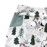 Wolves in the Woods Organic Cotton Pocket Leggings - Baby