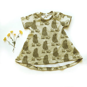 Mighty Morels Organic Cotton Dress - Baby