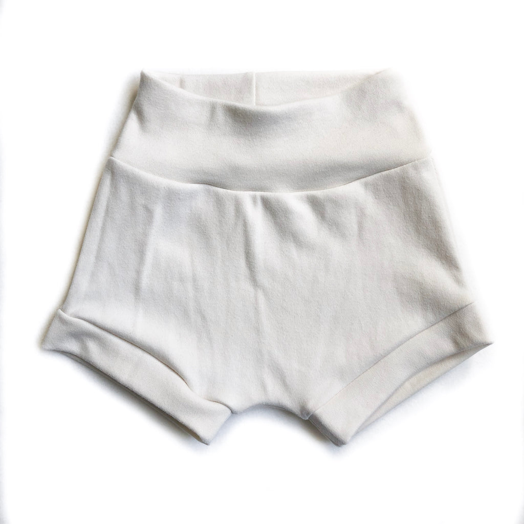 Solid Cream Organic Cotton Shorties