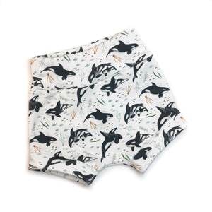 Orca Whales Organic Cotton Shorties
