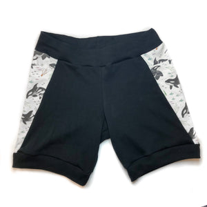 Women's Orca Whales Organic Cotton Shorts