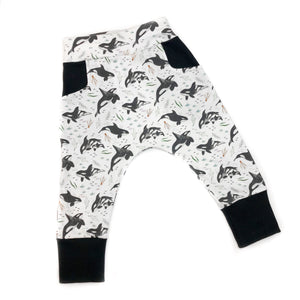 Orca Whales Organic Cotton Pocket Leggings - Baby