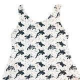 Orca Whales Adult Organic Cotton Tank A-Line Dress