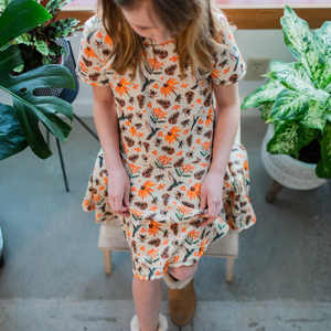 Kids PNW Pollinator Twirl Dress