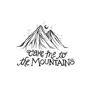 Take Me to the Mountains - White Sticker