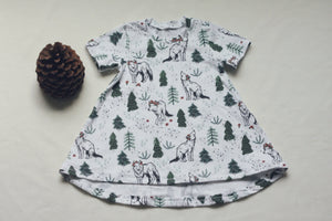 Children's Wolves in the Woods Tunic Dress