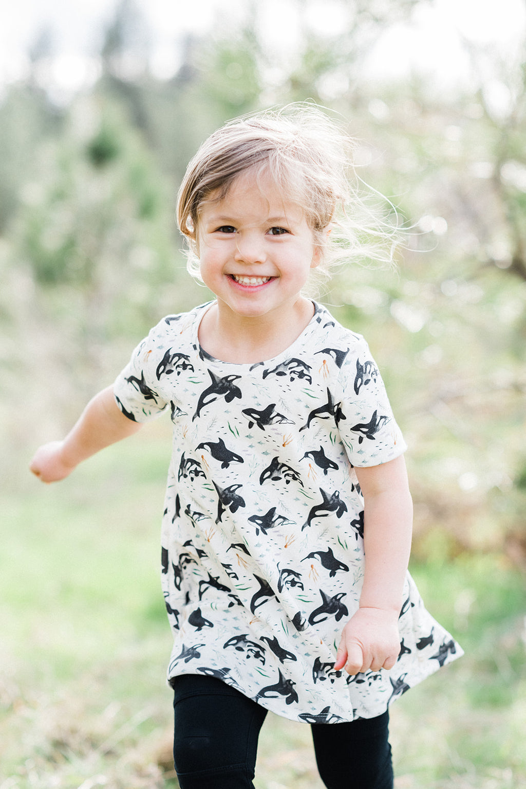 Orca Whales Organic Cotton Dress