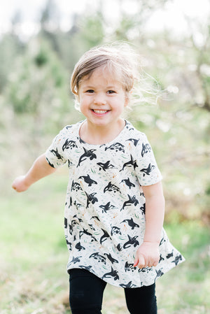 Children's Orca Whale Tunic Dress