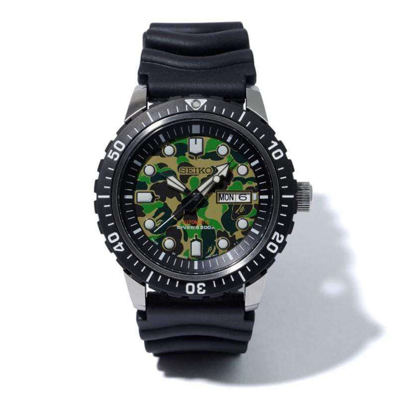 Seiko X Bape Mechanical Divers Men Watch 999 Limited Szel003 No Reviews
