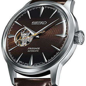 SEIKO PRESAGE COCKTAIL TIME MIDNIGHT STINGER WITH OPEN HEART MEN WATCH (WORLDWIDE MODEL) SSA407J1