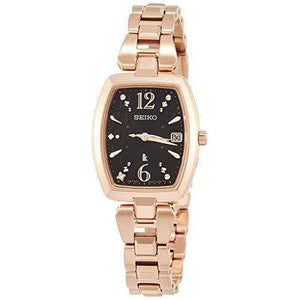 SEIKO LUKIA SOLAR RADIO WAVE PINK GOLD WOMEN WATCH SSVW128