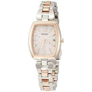 SEIKO LUKIA SOLAR RADIO WAVE PLATINUM DIASHIELD WOMEN WATCH SSVW126