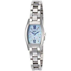 SEIKO LUKIA SOLAR RADIO WAVE SILVER WOMEN WATCH SSVR129