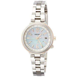 SEIKO LUKIA SOLAR RADIO WAVE SILVER WOMEN WATCH SSVV034
