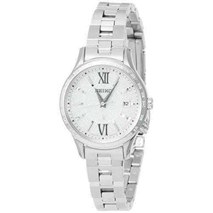 SEIKO LUKIA SOLAR RADIO WAVE SILVER WOMEN WATCH SSVV035
