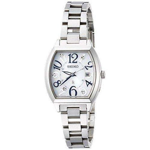 SEIKO LUKIA SOLAR RADIO WAVE SILVER WOMEN WATCH SSVW091