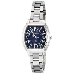 SEIKO LUKIA SOLAR RADIO WAVE SILVER WOMEN WATCH SSVW093