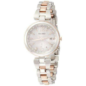 SEIKO LUKIA SOLAR RADIO WAVE TITANIUM MODEL SILVER WOMEN WATCH SSQV048
