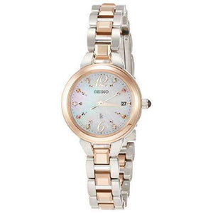 SEIKO LUKIA SOLAR SUMMER SWAROVSKI CRYSTALS PLATINUM DIASHIELD WOMEN WATCH (2500Limited) SSVW154