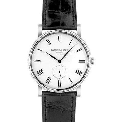 PATEK PHILIPPE CALATRAVA WHITE GOLD MEN WATCH 5119G-001 - ROOK JAPAN
