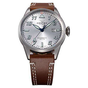 KENTEX SKYMAN PILOT ALPHA MECHANICAL AUTOMATIC BROWN MEN WATCH S688X-16