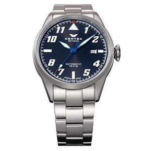 KENTEX SKYMAN PILOT ALPHA MECHANICAL AUTOMATIC SILVER MEN WATCH S688X-20