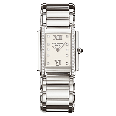 PATEK PHILIPPE TWENTY 4 DIAMOND WHITE WOMEN WATCH 4910/10A-011 - ROOK JAPAN