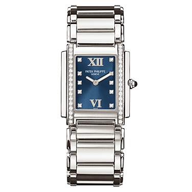 PATEK PHILIPPE TWENTY 4 DIAMOND BLUE WOMEN WATCH 4910/10A-012 - ROOK JAPAN