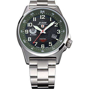 KENTEX JSDF STANDARD SOLAR GROUND PROFESSIONAL MODEL SILVER MEN WATCH S715M-04