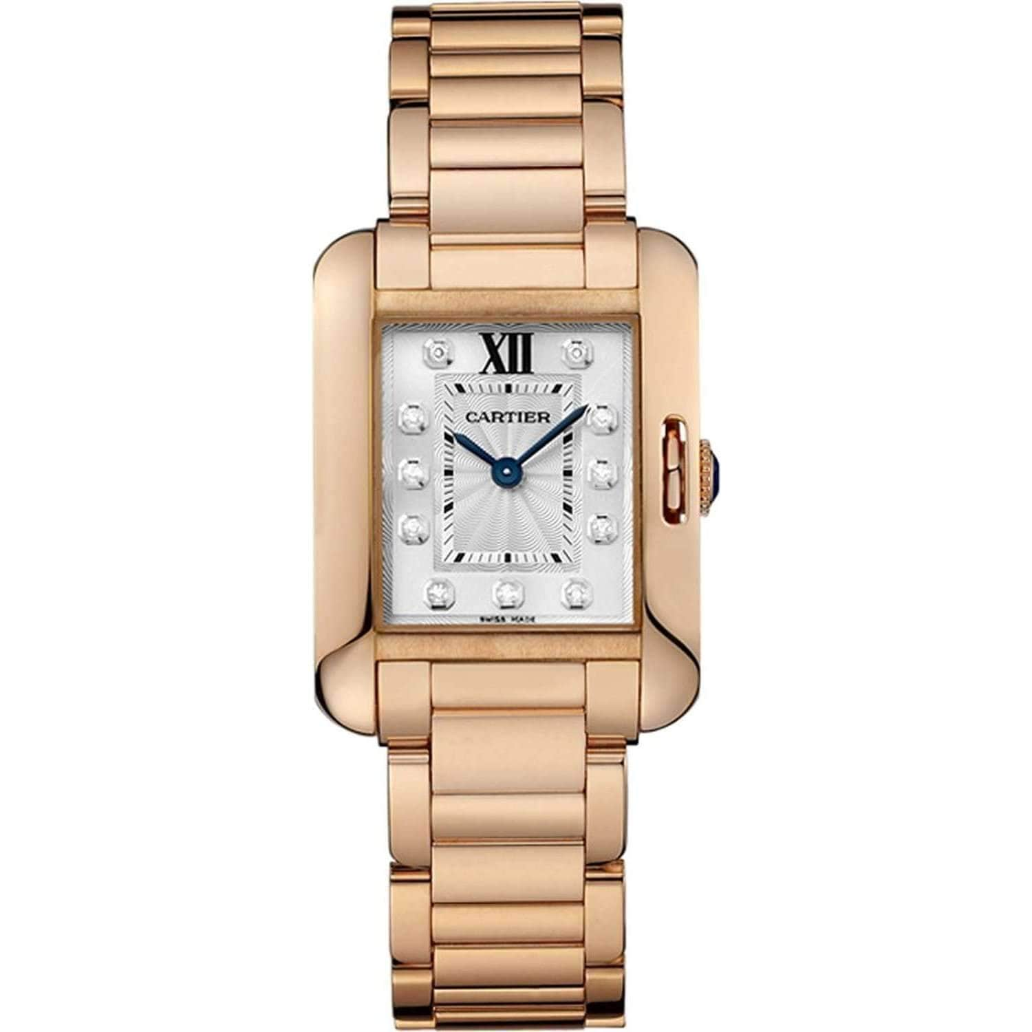 CARTIER TANK ANGLAISE GOLD 18K WOMEN WATCH  WJTA0004 - ROOK JAPAN