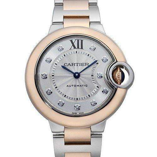 CARTIER BALLON BLEU TWO-TONE STAINLESS STEEL DIAL WOMEN WATCH  W3BB0006 - ROOK JAPAN