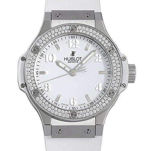 HUBLOT BIG BANG STEEL WHITE DIAMONDS 38 MM WOMEN WATCH 361.SE.2010.RW.1104 - ROOK JAPAN