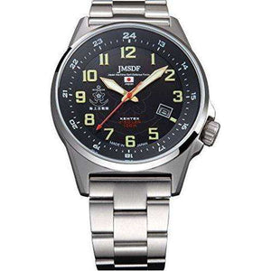 KENTEX JSDF STANDARD SOLAR MARINE PROFESSIONAL MODEL SILVER MEN WATCH S715M-06