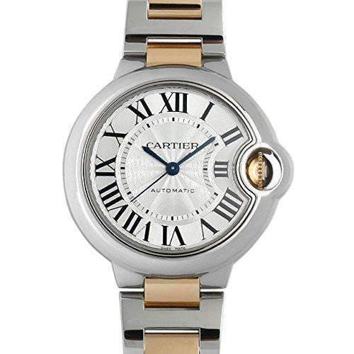 CARTIER BALLON BLEU TWO-TONE STAINLESS STEEL DIAL WOMEN WATCH  W2BB0002 - ROOK JAPAN