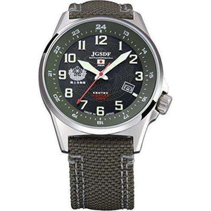 KENTEX JSDF STANDARD SOLAR GROUND PROFESSIONAL MODEL GREEN MEN WATCH S715M-01