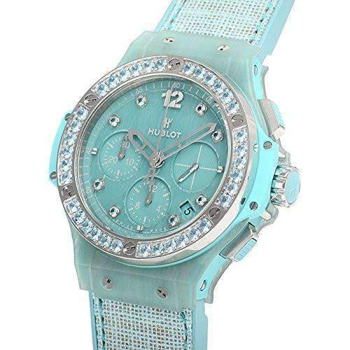 HUBLOT BIG BANG TURQUOISE LINEN 41 MM WOMEN WATCH 341.XL.2770.NR.1237 - ROOK JAPAN